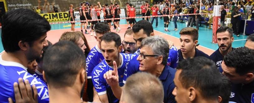 Final Superliga Masculina: SESI-SP e Vôlei Taubaté se enfrentam em Suzano. Foto: Vôlei Taubaté