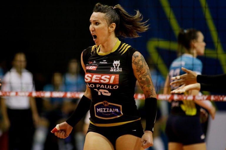 Sesi Vôlei Bauru está pela primeira vez na semifinal da Superliga feminina. Foto: Sesi Vôlei Bauru