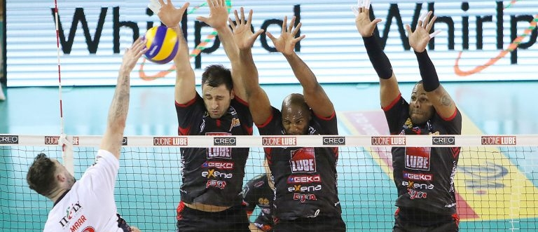 Yoandy Leal do Civitanova disputa as quartas-de-final da Champions League. Foto: Civitanova