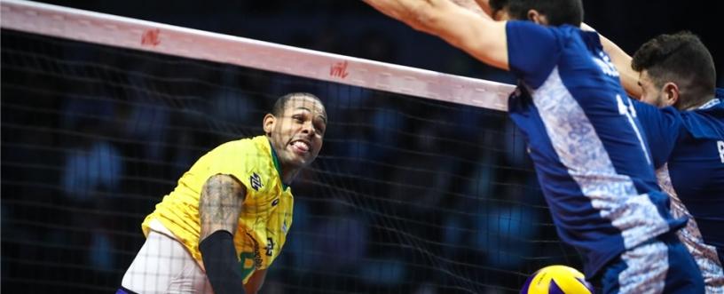 Yoandy Leal faz sua estreia em casa pela Seleção Brasileira. Foto: FIVB